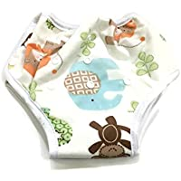 BB2 Adjustable Baby Toddler Potty Toilet Training Reusable Bamboo Pants (Adjustable, Zoo Animals)