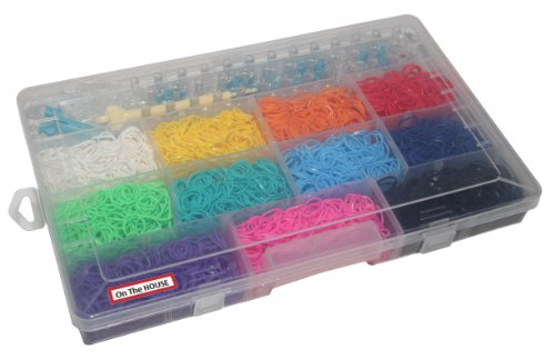Funky Loomz Complete Bundle Kit & C-clips Collection +Loom Includes 6600 Bandz +275 C-clips 11 Beautiful Colors and Great Storage Case.