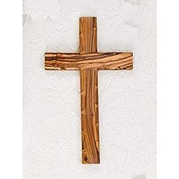 Olive Wood Cross 10''