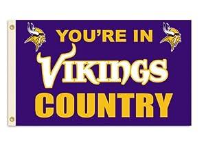 NFL Minnesota Vikings 3-by-5 Foot In Country Flag by BSI