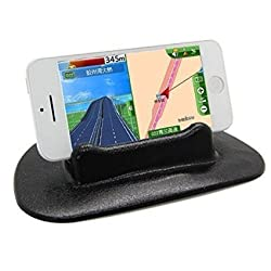 Zonman Universal Anti-slip Dashboard Car Stand Mount Holder for Smartphone Iphone 6S 6 Plus 6 6 Plus 5s 5 GPS PDA Psp-small Black