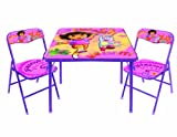 Nickelodeon Dora 10th Anniversary Table and Chair Set, 3-Piece