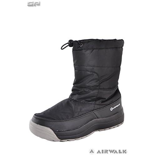 AIR WALK(エアウォーク)メンズ スノーブーツ スパイク付き AWSNB-16 ブラック 26.0