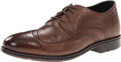 (五星)Rockport Fairwood 2 Wingtip Oxford 乐步 男士 正装 牛津皮鞋 深棕色 $61.98