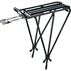 """Topeak Explorer Rear Mount Rack features an integrated top plate for quick-mount Topeak MTX and RX Quick Track trunk bags.Size (LxWxH): 13.4"""" x 5.6"""" x 16.3""""One size fits all framesTough 6061 T6 aluminum construction with 6061T6 aluminum fitting brack..."""