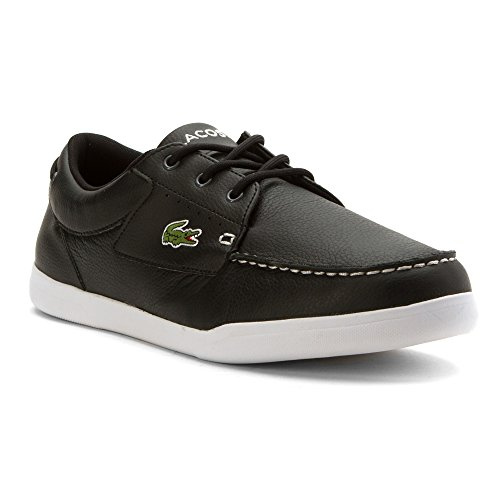 Lacoste Men's Codecasa 316 1 Spm Boat Shoe, Black, 10.5 M US