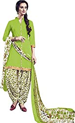 Chandra Enterprises Crepe Patiyala Suit / Dress Material with Mangalgiri Border(Unstitched)for Women