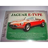 JAGUAR E TYPE THE ULTIMATE IN STYLE LARGE ENAMEL METAL SIGN 12