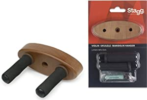 Stagg UVMH-WN OVA Wall Mount Holder for Ukuleles, Mandolins and Violins