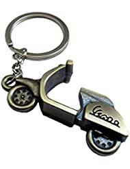 Techpro Premium Quality Metal Keychain With Vespa Scooter Design