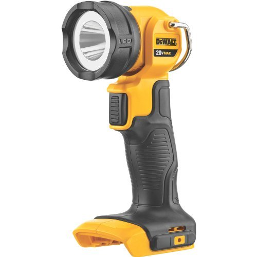 Dewalt Dcl040 20-Volt Max Led Flashlight Bright Led Outpu,110 Lumens Integral Hook For Hands Free Use In Multiple Placements Head Rotates 120-Degrees