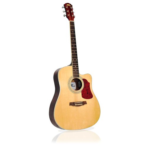 Pyle-Pro Pga44 Professional Full Size Acoustic 6 String Guitar W/ Spruce Top