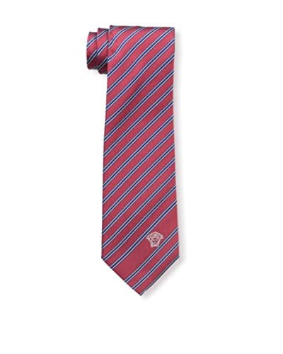 Versace Men's Multi Stripe Tie, Blue/Red