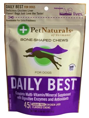 """Brand New Pet Naturals Of Vermont - Daily Best For Dogs (45Ct) """"Dog Products - Dog Health - Vitamins & Supp"""""""