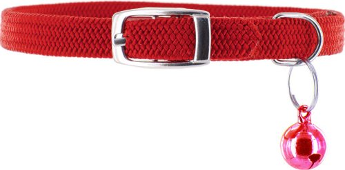 Kakadu Pet Tinker Bell Nylon/Elastic Safety Cat Collar with Bell, Red