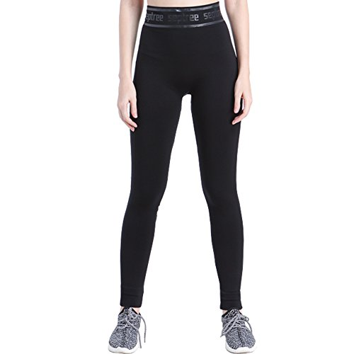 Septree Women's High Waist Activewear sport Ankle legging Workout Tights Running Yoga Pants (S/M, Black) (Winter Sports Pants compare prices)
