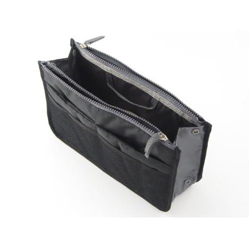 ゲインマート バッグインバッグ 旅行 ポーチ カバン 人気 大きめ 小物入れ 化粧ポーチ (ブラック)