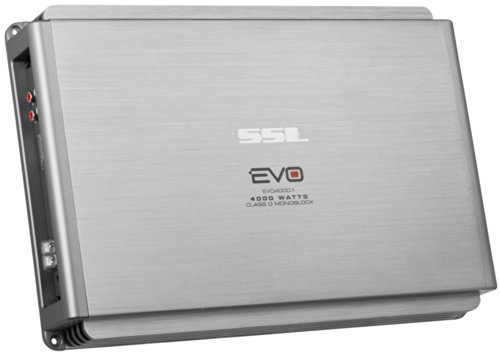 Ssl Evo4000.1 Evo 4000-Watts Monoblock Class D 1 Channel 1 Ohm Stable Amplifier With Remote Subwoofer Level Control