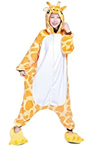 Ferrand Kigurumi Pajamas Unisex Adult Cosplay Costume Animal Pyjamas Giraffe Yellow S