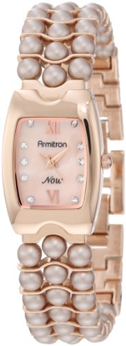 Armitron Women'S 75/5043Rmrgal Pearl Bracelet Rosegold-Tone Watch