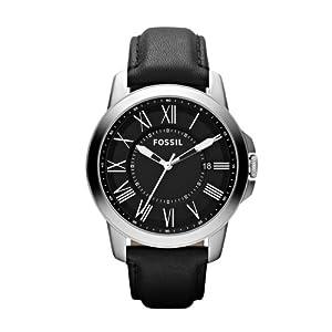 Fossil Men's Quartz Watch FS4745 FS4745 with Leather Strap