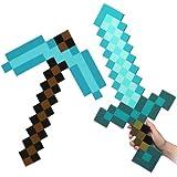 Minecraft Blue Diamond Sword & Pickaxe Set