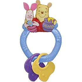 Disney BABY My First Pooh Rattle Teether 0+