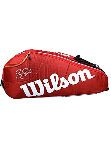 Wilson Schlägertasche Federer Team 6er Racket Bag, Rot, 75 x 35 x 24 cm, 65 Liter, WRZ833406