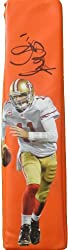 Alex Smith Autographed San Francisco 49ers Custom Photo Football End Zone Pylon, Super Bowl XLVII, Proof Photo