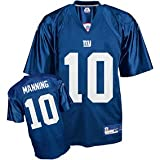 Eli Manning Jersey: Reebok Blue Replica #10 New York Giants Jersey - Large