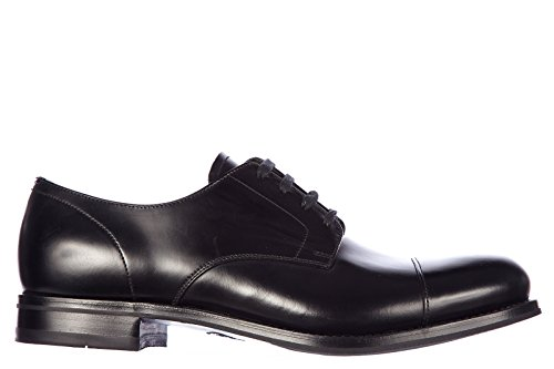Prada scarpe stringate classiche uomo in pelle nuove derby rois nero EU 41 2EA108 B4L F0002