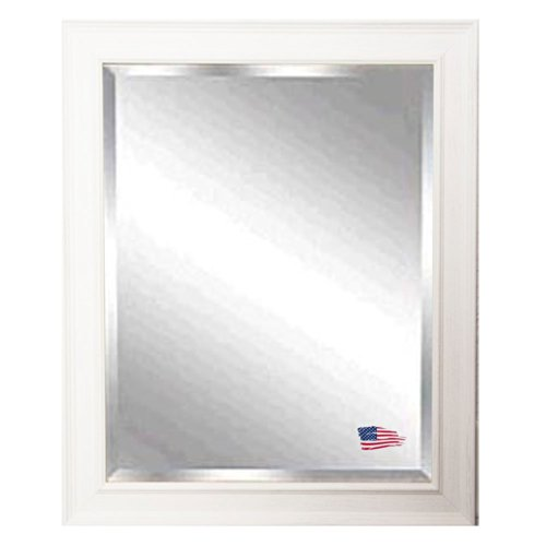 American Made Rayne Driftwood White Beveled Wall Mirror, 27.5 X 33.5 front-616345