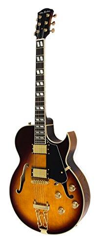Glen Burton Chicago Ii Jazz Hollow Body Electric Guitar - Tobaccoburst
