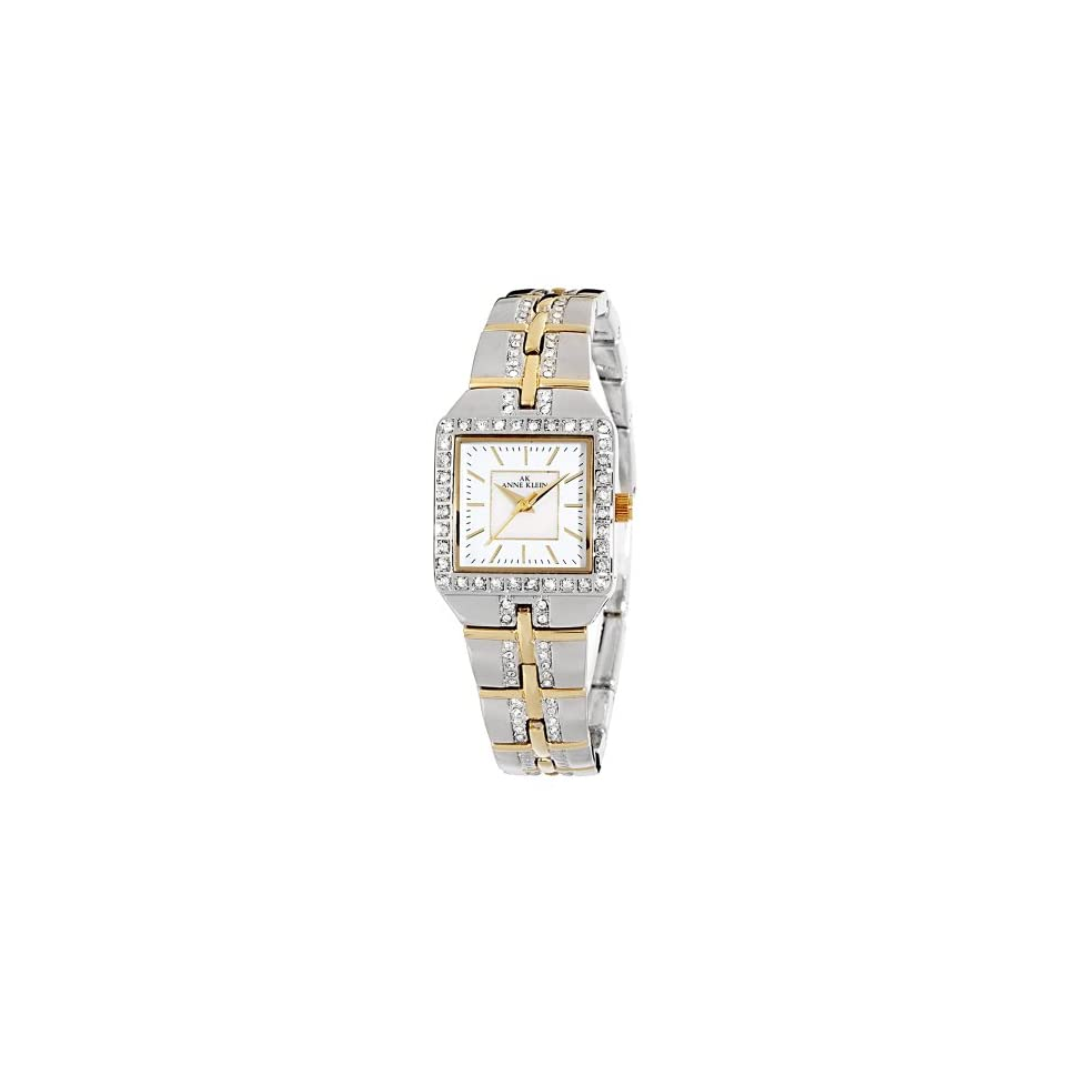Anne Klein Womens 109209MPTT Swarovski Crystal Accented Two Tone Dress Watch