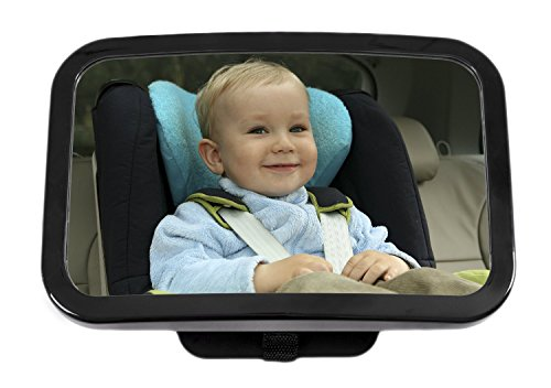 Greenco Rear Facing Crystal Clear Back Seat Baby View Mirror, Large