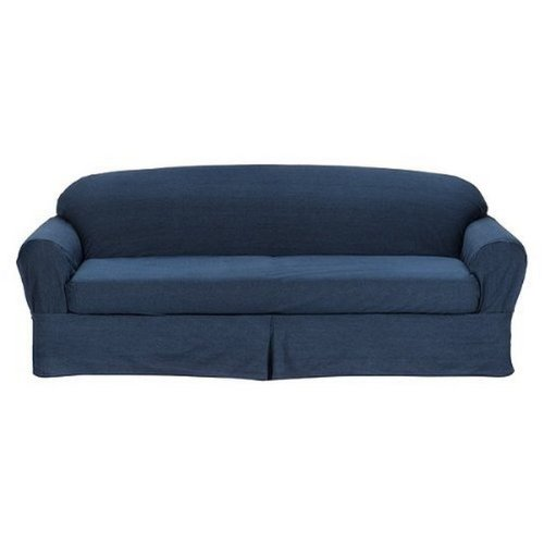 Indigo Denim 2 Piece Sofa Slipcover, Home Slip Cover