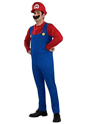 Herren-Kostüm SUPER MARIO BROS. ROT/BLAU, Größe:XXL