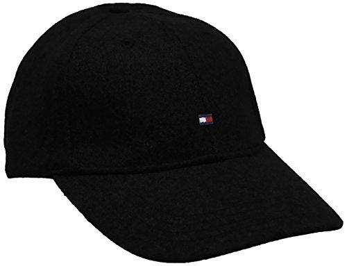Tommy Hilfiger Melton Cap, Berretto Uomo, Nero (Flag Black 083), One Size (Taglia Produttore:OS)