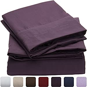 #1 Duvet Cover Sets - SALE - HIGHEST QUALITY 100% Brushed Microfiber 1800 Luxury Bedding Collections - With Pillow Shams - LIFETIME MONEY BACK - Mellanni (Full / Queen, Purple)