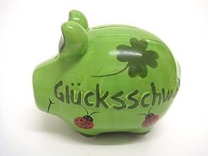 """KCG 100784 - Sparschwein aus Keramik 12,5 cm """"Glücksschwein"""""""