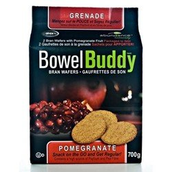 Bowel Buddy Pomegranate Bran Wafers By Abundance - 28 Wafers