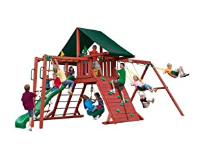 Gorillaplaysets Home Outdoor Playground Garden Patio BackYard Sun Climber II CG Cedar... by Gorilla Playsets
