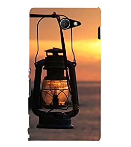 VINTAGE LANTERN ON A SEA SIDE 3D Hard Polycarbonate Designer Back Case Cover for Sony Xperia M2 Dual D2302 :: Sony Xperia M2