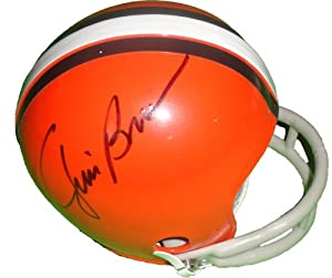 Jim Brown Autographed Signed Cleveland Browns Throwback Riddell Mini Helmet, Proof... by Southwestconnection-Memorabilia