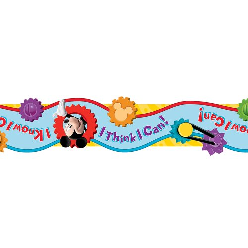 Eureka Mickey Mouse Clubhouse I Think I Can Extra Wide Cut Deco Trim