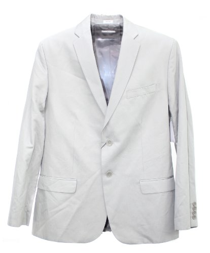 Calvin Klein Body Men'S Slim Fit 2 Button Sportcoat Jacket, Xl, Monument