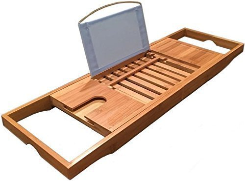 1 Best Seller] LUXURY 2016 Bamboo Bathtub Caddy With Free Bath ...