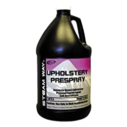 Steamway International - Upholstery Prespray - Ammonia Based Upholstery Preconditioning Agent - 1 Gallon - 9131000