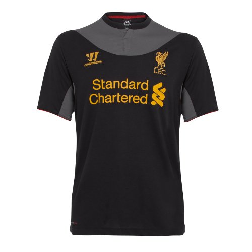 Warrior Liverpool Football Club Away Short Sleeve Jersey - Black/Raven Grey, Small
