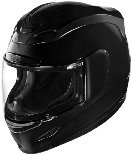 icon airmada motorcycle helmet black side.